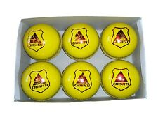 BRAND NEW LEATHER INDOOR CRICKET BALLS BOX OF 6