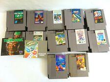 NES Game Lot Of 12 Original Nintendo Games Tetris  Mario Tecmo Bowl Ninja  Lot