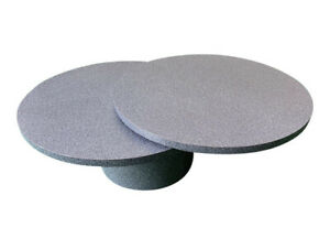 Black White and Gray Speckled Laminate Swivel Coffee Table