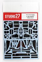 Studio27 ST27-CD20022 F2001 Carbon Decal for Tamiya 1/20