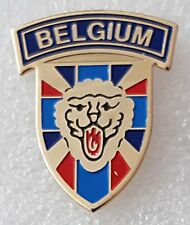 """""""Belgium"""" a country in Western Europe lapel pin badge"""