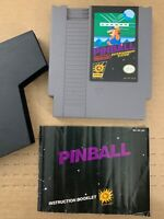 Pinball 100% Authentic NINTENDO NES GAME Tested Working w/ Manual