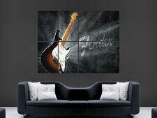 FENDER STRATOCASTER ELECTRIC CHITARRA MUSICA Muro Art Immagine grande POSTER GIGANTE