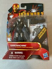 "Iron Man 2 MOVIE SERIES WAR MACHINE 3.75"" Action Figure Missile Launcher 12 New"