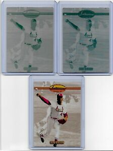 1/1 LOT OF 2 BOB GIBSON 1993 TED WILLIAMS CARD PRINTING PLATES CARDINALS 1 OF 1