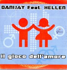DANIJAY HELLEN IL GIOCO CD Single Techno HOUSE DANCE MAX BLANCO Y NEGRO