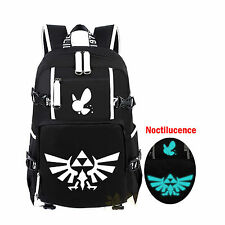 The Legend Of Zelda Tossed Triforce Logo Luminous Backpack Laptop School Bag New