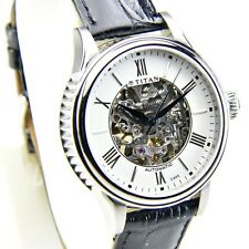 Titan Automatic Analog White Face Men's Watch 9339SL02 Case 38mm