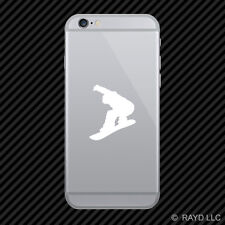 (2x) Snowboarder Cell Phone Sticker Mobile snowboarding grom #1 many colors