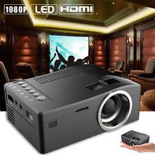 1080P HD LED Home MulitMedia Theater Cinema USB TV VGA SD HDMI Mini Projector UK