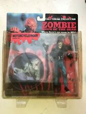 BNIB CULT CINEMA COLLECTION ZOMBIE DAWN OF THE DEAD MOTORCYCLE RIDER FIGURE