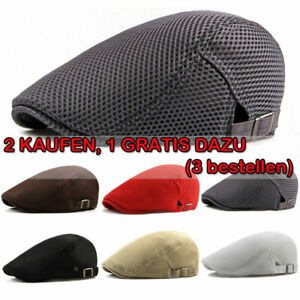 Herr Sommer Schiebermütze Barett Gatsby Cabbie Zeitungsjunge Sommer Flatcap Hut