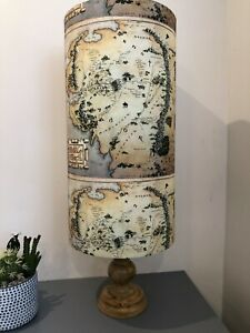 Tall Lampshade/Ceiling Shade 25cm dia 50cm High in Your Choice of Fabric