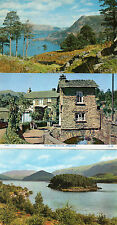 Cumbria ,Lake district x3  Ambleside,Thirlmere and ullswater unposted 1960's/70