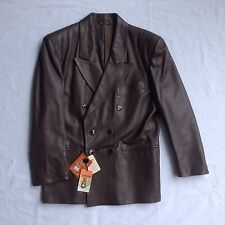 Genuine Leather Anfor Jacket Men's 48 Made in Italy Brown Lined