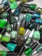 China Glaze Nail Polish All About GREEN Light Bright Dark Glitter Shimmering U C
