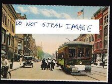 Amsterdam Postcard (Read Description) C 1920s Single Truck Trolley On Main St