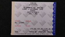 Rare ticket du concert des SIMPLY RED - Zénith/Paris - 4 décembre 1995