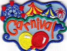 """CARNIVAL"" Iron On Patch Amusement Fun Games Ferris Wheel Tent"