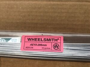 Wheelsmith AE-15- 296mm Silver spokes Pack Of 50