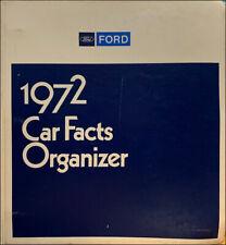 1972 Ford Car Facts Book Dealer Album Showroom Data Book Options