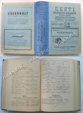 RARE ESTONIA 1936-1937 TELEPHONE ADDRESS DIRECTORY