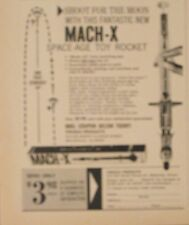 1965 Mach-X Space-Age Rocket Fredco Products Promo Vintage Toy Paper AD
