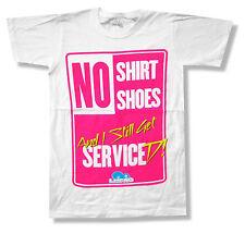 LMFAO No Shoes No Shirt Pink Sign White T Shirt New Official