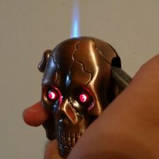 NEW Novelty Collectible SKULL HEAD Cigarette Butane Lighter With Free postage