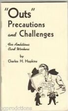 Outs Precautions & Challenges Book Close Up Ambitious Card Workers Magic Trick