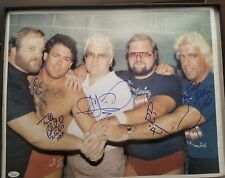 RIC FLAIR ARN ANDERSON FOUR HORSEMEN NWA SIGNED AUTOGRAPH 16X20 PHOTO JSA COA