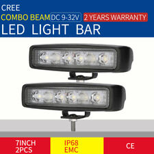 7inch 120W Pair Cree LED Light Bars Combo OFFROAD Truck Work Driving Lamp Black