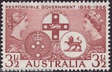 1956 3 1/2d RESPONSIBLE GOVERNMENT1856-1956 AUSTRALIAN POSTAGE STAMP - MNH