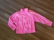 Vtg 80's Color Block Windbreaker Track Jacket Pink  Andy Johns Women's Medium