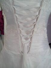 Lacet ruban IVOIRE / 3 mètres - satiné pour robe de mariée/soirée