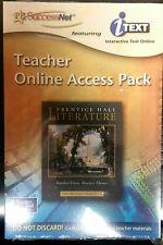 Prentice Hall Literature : PH SuccessNet Teacher's Online Access Pack...
