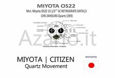 Movimento Miyota 0S22 cronografo quarzo Movement chrono quartz OS22 watch Japan