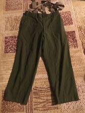 Korean War Wool Pants Size Large 38 With Suspenders Simaler To Ww2