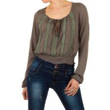 Hippie Langarm Damenblusen, - tops & -shirts mit S