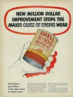 1952 SHELL X-100 MOTOR OIL A3 POSTER AD ADVERTISEMENT ADVERT