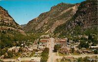 Birdseye View 1950s Ouray Colorado Transmountain Crocker postcard 9928