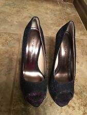 """CHINESE LAUNDRY Shimmer  Multi-Color Open-Toe 5"""" Heel Pumps Size 7.5 M (47)"""