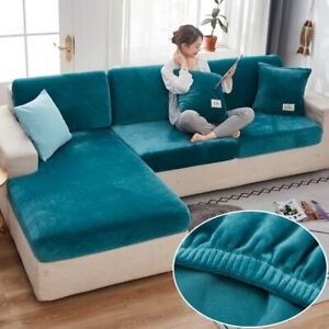 Velvet Sofa Seat Covers for Living Room Elastic Longue Couch Funiture Protector