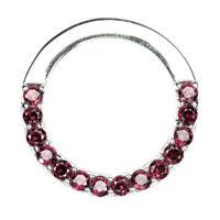 Round Pink Rhodolite Garnet Unheated 3mm 925 Sterling Silver Pendant