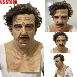 Latex Old Man Mask Male Disguise Cosplay Costume Halloween Realistic Party Props