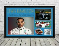 Lewis Hamilton Signed Photo Print Poster Formula One Mercedes Memorabilia