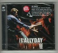 JOHNNY HALLYDAY ♦ 2 CD NEUF + STICKER 1ere EDITION ♦ OLYMPIA 2000 (livret 20 p)