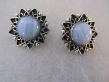 Blue Lace Agate - Mexico 925 CII Sterling Silver Stud Earrings