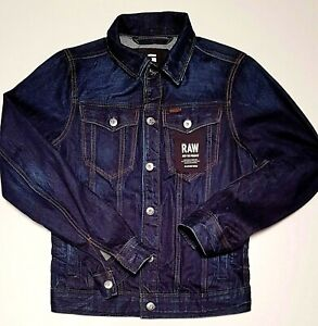 Men's G-STAR RAW signature branded designer BNWT 3301 3D slim denim jacket -XS