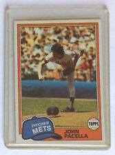 1981 Topps BASEBALL CARD John Pacella 414 New York Mets Pitcher Rookie Card Mint
